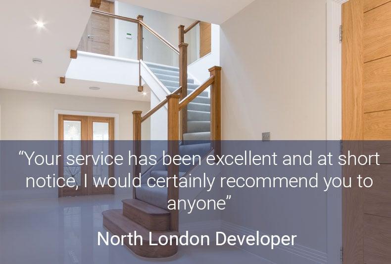 North London Developer-Testimonial
